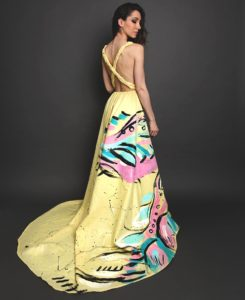 painted dress by Lara Padilla Art Fashion