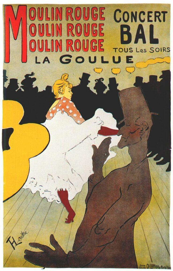 Moulin Rouge: la Goule, en 1891